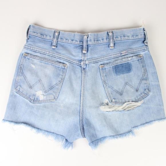 04452944b8 Wrangler Shorts | Vtg Cutoff Denim Destroyed Cheeky | Poshmark